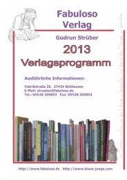Das komplette Verlagsprogramm 2013 zum Download - Fabuloso ...