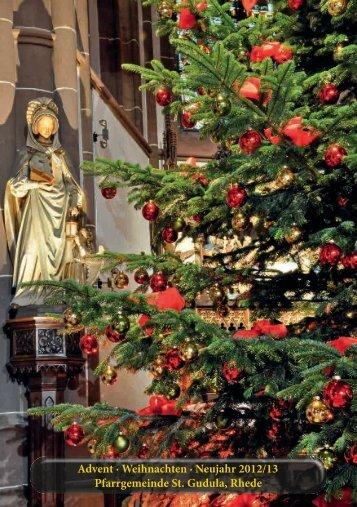 Pfarrbrief zu Weihnachten 2012 - Pfarrgemeinde St.-Gudula