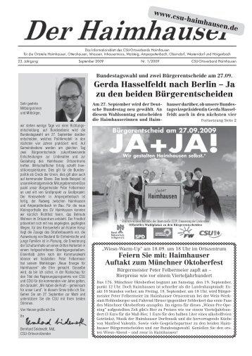 Gerda Hasselfeldt nach Berlin - Bernhard Seidenath