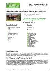 Ferienwohnanlage Haus Hartmann in ... - Outdoor-Touristik