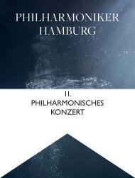 II. Philharmonisches Konzert - Philharmoniker Hamburg