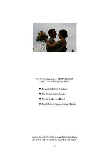 Feiern Sie Ihre Hochzeit in natürlicher Umgebung - luftgrobm