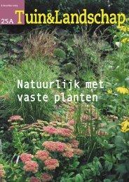 T&L Thema: Natuurlijk met vaste planten 25a ... - Tuin & Landschap