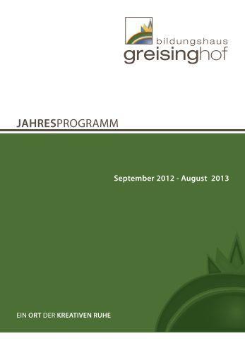 JAHRESPROGRAMM - Bildungshaus Greisinghof