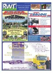 Juni/Juli 2011 - RWT - Magazin für die Südwestpfalz