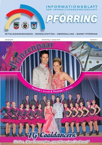 Informationsblatt-2013-01 - Markt Pförring