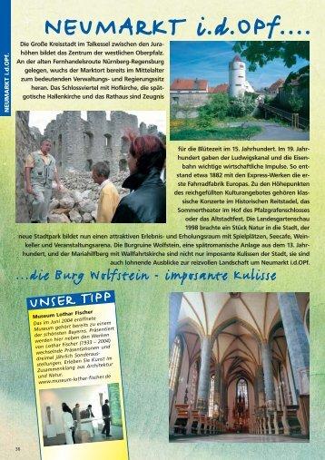 höhen bildet das Zentrum der westlichen Oberpfalz. An d