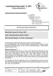 Landratsamt Neumarkt i. d. OPf. –Gesundheitsamt– - Landkreis ...