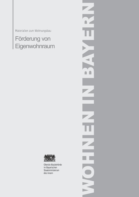 Merkblatt Förderung von Eigenwohnraum - Landkreis Passau