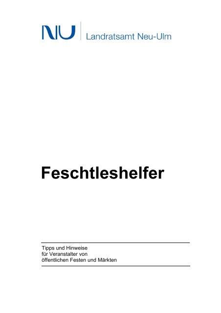 Broschüre Feschtleshelfer - Landkreis Neu-Ulm