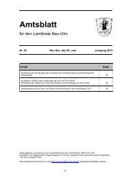 Amtsblatt Nr. 22 vom 29. Juni 2012 (1.70 - Landkreis Neu-Ulm
