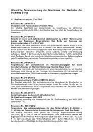 Beschlüsse - Kurstadt Bad Berka