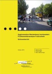 Problemstellenanalyse Fussverkehr - Agglomeration Werdenberg ...