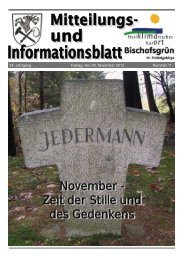 November - Gemeinde Bischofsgrün Fichtelgebirge - Bischofsgrün