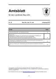 Amtsblatt Nr. 20 vom 15. Juni 2012 (497.78 - Landkreis Neu-Ulm