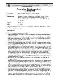 Entschuldigt: Frauu Schlett Herr Knoll