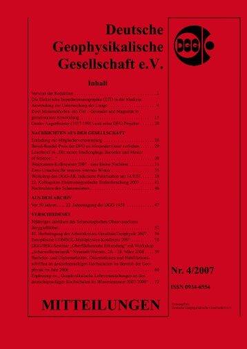 Vollständige Aktuelle Ausgabe Nr. 4/2007 (pdf) - Deutsche ...