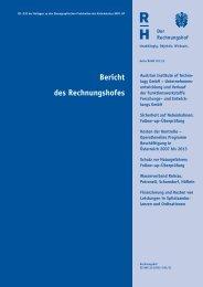 Bund 2011/03 - Der Rechnungshof