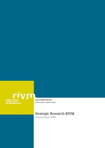 Strategic Research RIVM Annual report 2009