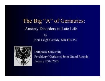 """The Big """"A"""" of Geriatrics:"""