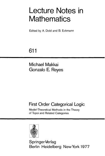 Lecture Notes in Mathematics - bib tiera ru static