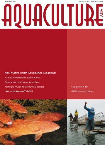 New Marine Finfish Aquaculture Magazine! - Library - NACA