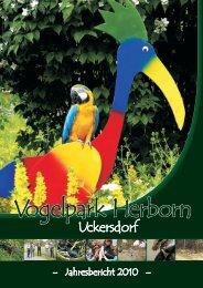 Jahresbericht 2010 - Vogelpark Herborn