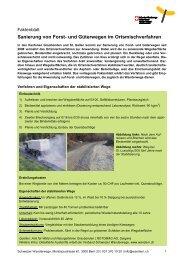 Sanierung von Forst- und Güterwegen im Ortsmischverfahren