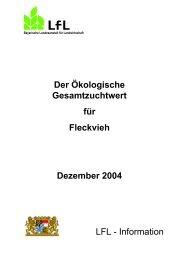 Information - Bayerische Landesanstalt für Landwirtschaft - Bayern