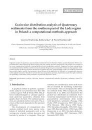 Grain-size distribution analysis of Quaternary sediments from the ...