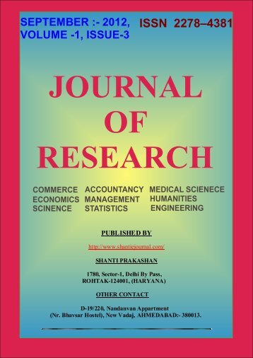 _RESEARCH JOURNAL - shanti e journal of research