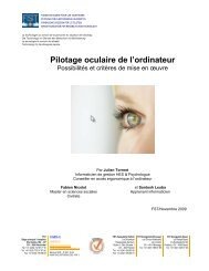 Pilotage oculaire de l'ordinateur - Stiftung für elektronische ...