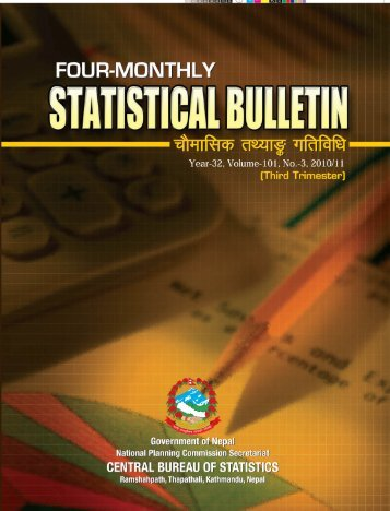 Statistical Bulletin - Central Bureau of Statistics