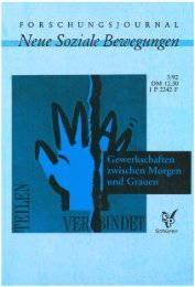 Vollversion (6.33 MB) - Forschungsjournal Soziale Bewegungen