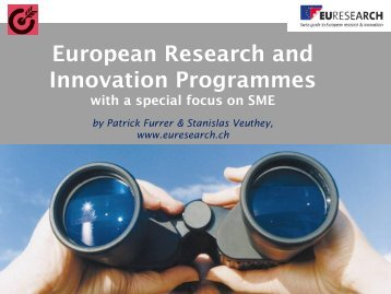 European Research and Innovation Programmes - Euresearch