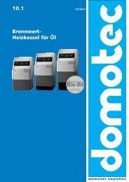 10.1 Brennwert- Heizkessel für Öl - Domotec AG
