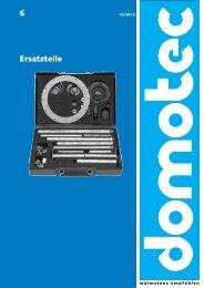 6 Ersatzteile - Domotec AG