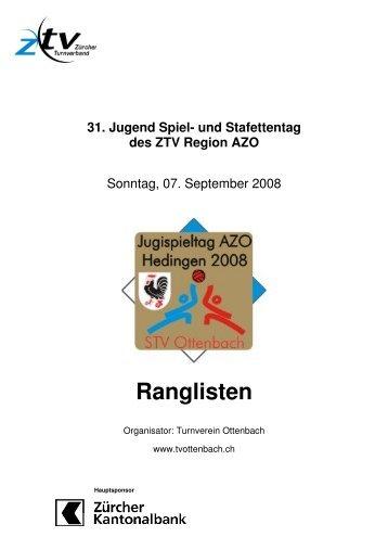 Ranglisten - DTV Hedingen