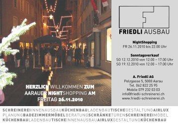 FRIEDLI AUSBAU - A. Friedli AG