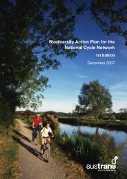 Biodiversity Action Plan for the National Cycle Network ... - Sustrans
