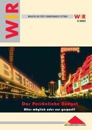 WIR Magazin der Fürst Donnersmarck-Stiftung, 2. Ausgabe 2005