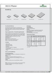 Produktdatenblatt DECO Gebürstet - bau docu Österreich