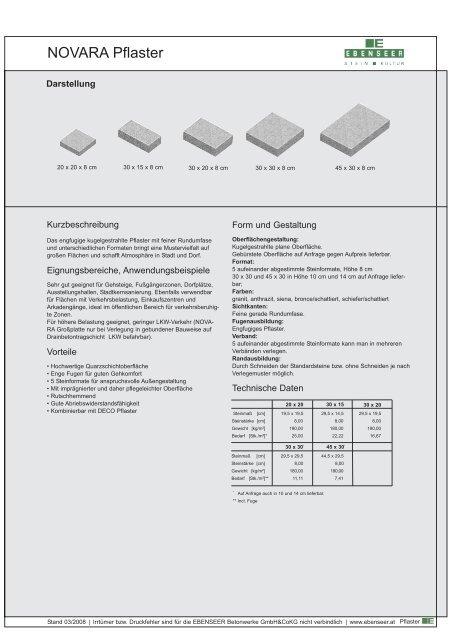 Produktdatenblatt Novara - bau docu Österreich