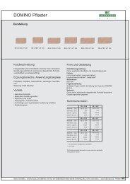 Produktdatenblatt DOMINO Pflaster - bau docu Österreich