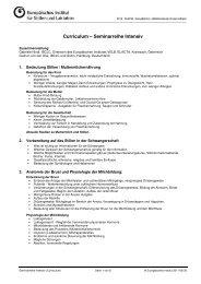 Curriculum Seminarreihe Intensiv - Europäisches Institut für Stillen ...