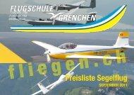 Preisliste Segelflug SEPTEMBER 2011