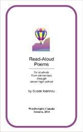 READ ALOUD POEMS - Sympatico