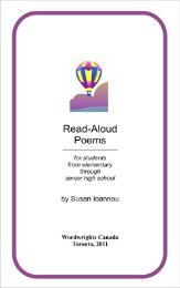 READ ALOUD POEMS - Sympatico