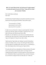 1 Rede von Landrat Hanns Dorfner zum ... - Landkreis Passau