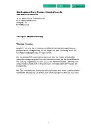 Sparkassenstiftung Passau / Geschäftsstelle - Landkreis Passau